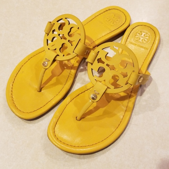 e6081093463c63 Tory Burch Shoes - Tory Burch Yellow Sandals